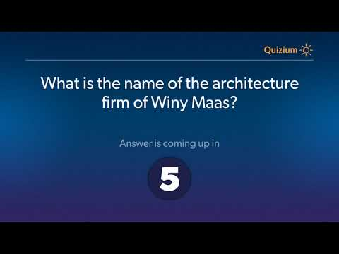 What is the name of the architecture firm of Winy Maas?   Winy Maas Quiz