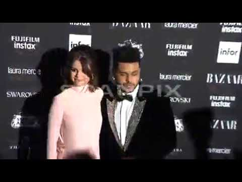 Selena Gomez & The Weeknd Kiss At Harper's BAZAAR Icons Party In New York, NY 9/8/2017