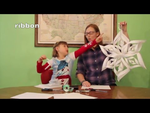 3D Giant Paper Snowflake