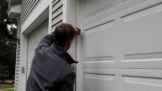 How to Replace Garage Door Weather Strips