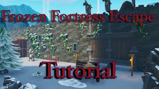 Fortnite Frozen Fortress Escape Tutorial! Code: 9600-2882-3175