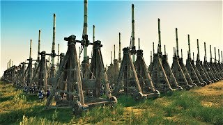 1500 Trebuchets vs 8000 Spear Guards Three Kingdoms Total War