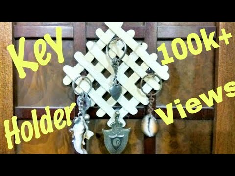 How To Make Key Holder At Home Youtube