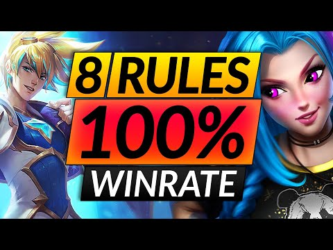 8 PROVEN Rules for 100% WINRATE in RANKED - Challenger Reveals SECRET Tips - LoL Guide