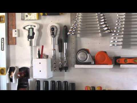 Hand tool storage mi panel de herramientas youtube - Organizador de herramientas ...