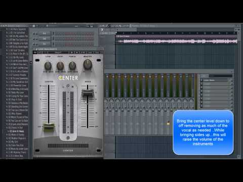 """FL Studio Tutorial: Removing Vocal From A Song The Easy Way With Waves Plugin """"Center Stereo"""""""