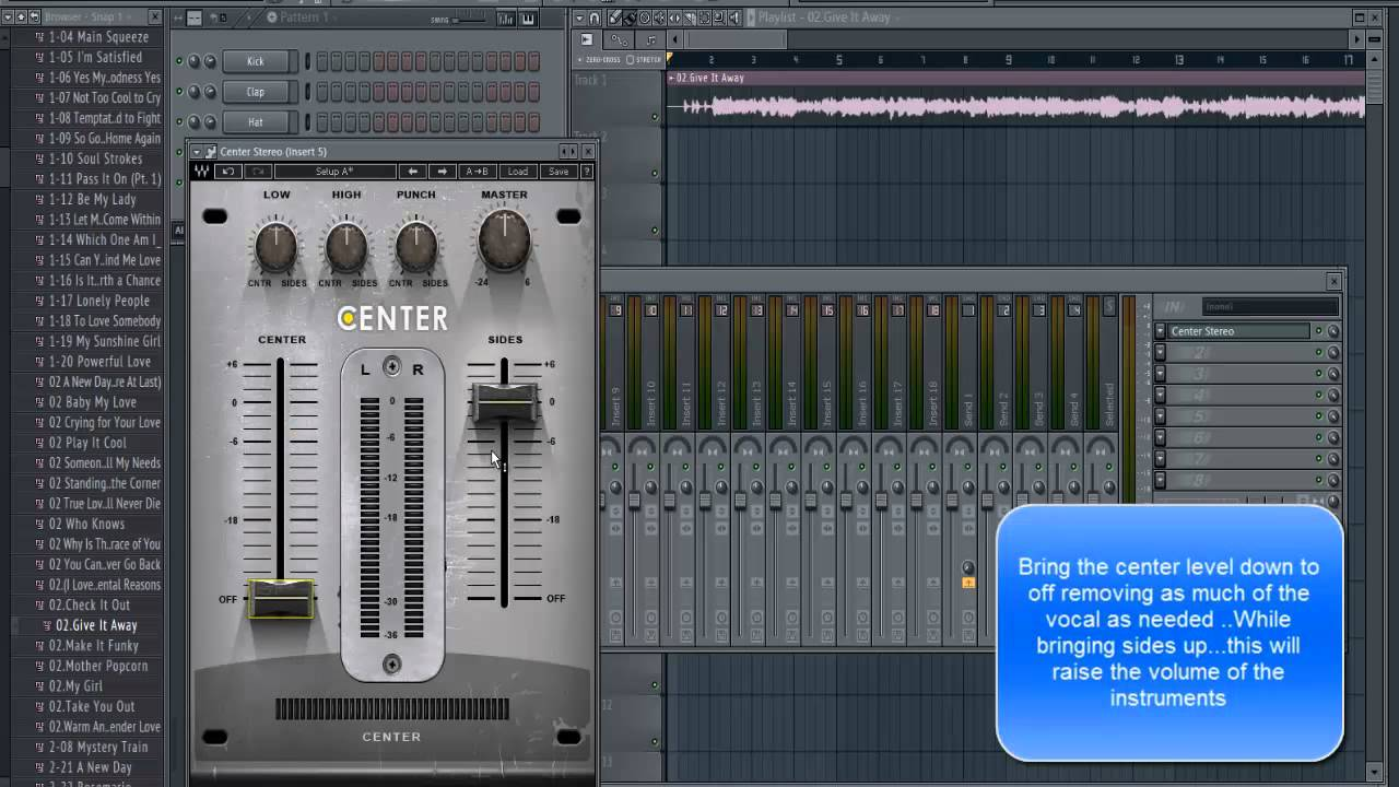FL Studio Tutorial Removing Vocal From A Song The Easy