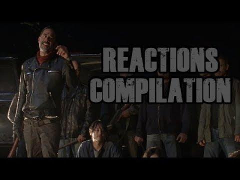 Walking Dead Season 7 Premiere | Death Scenes - Reactions Compilation