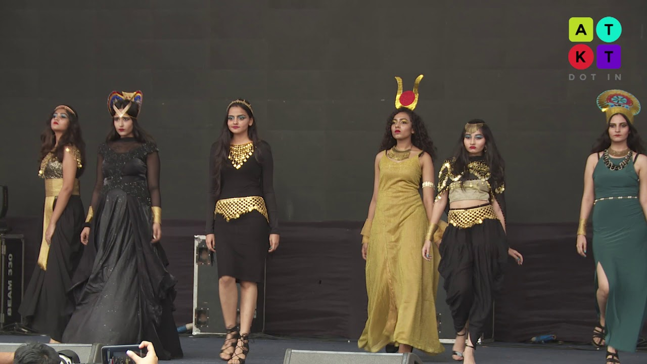 Egyptian Themed Fashion Show by Students from NM College   Umang 2018