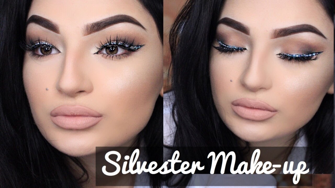 Braut Make Up Augen Silvester Glam Makeup Tutorial Glitzer Eyeliner Dilsbeautyweek Tag 3