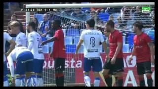 Análisis Gol Dorca tras falta Lateral. Real Zaragoza 2 - RCD Mallorca 1. Liga Adelante 15/16