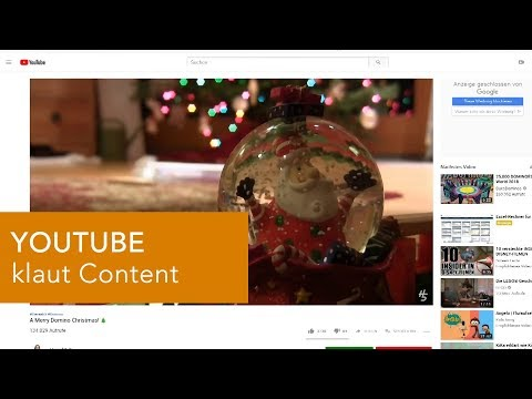 YOUTUBE klaut Content