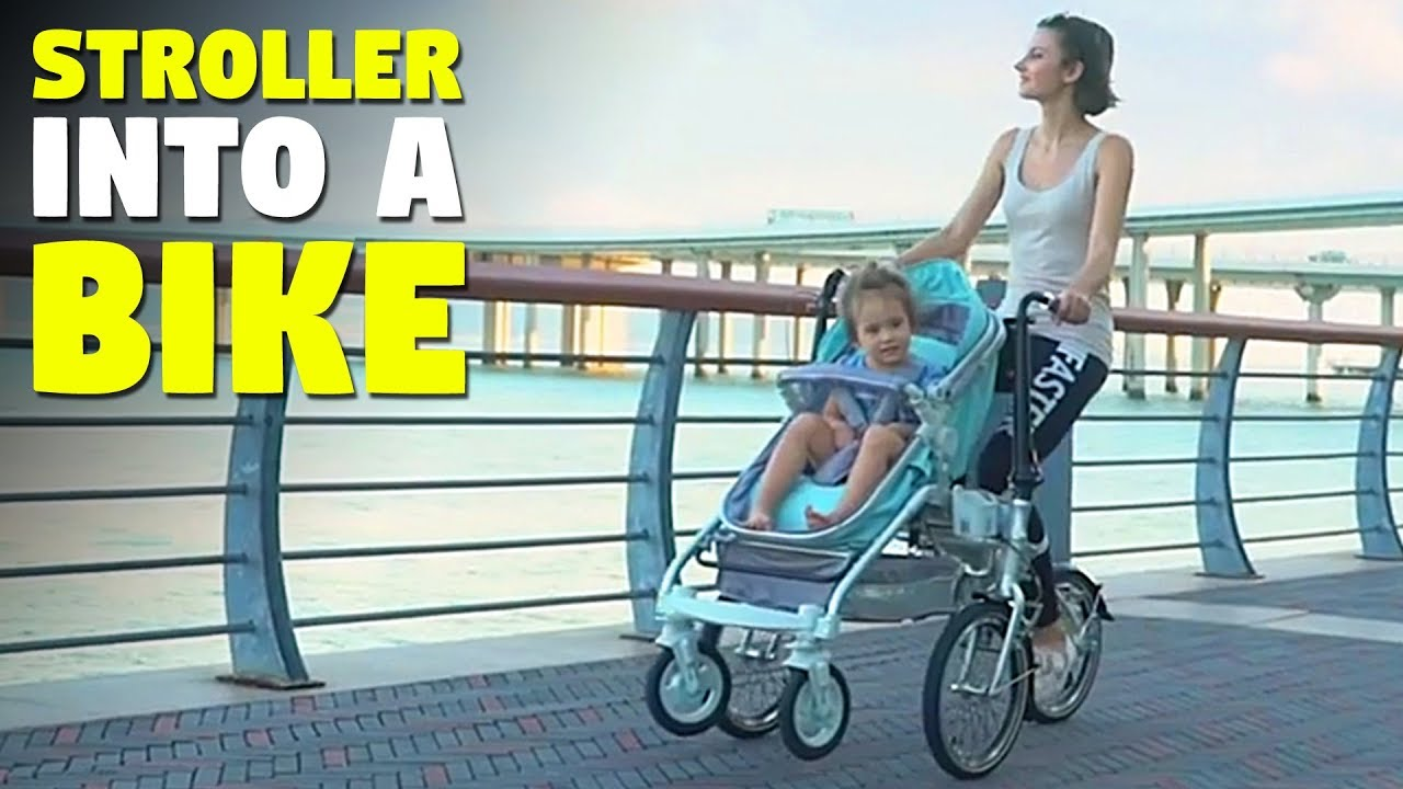 98d24a614fb This Child Stroller is a Folding Bicycle for Parents | Alfawise Bike  Stroller | TheSuperBOO!