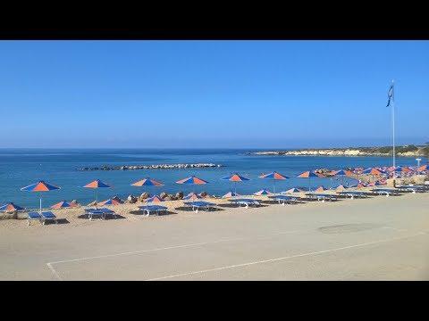 """Отель 🏩 """"Panareti Coral Bay"""", пляж. Кипр, Пейя. (Cyprus, Peyia) октябрь 2017 г."""
