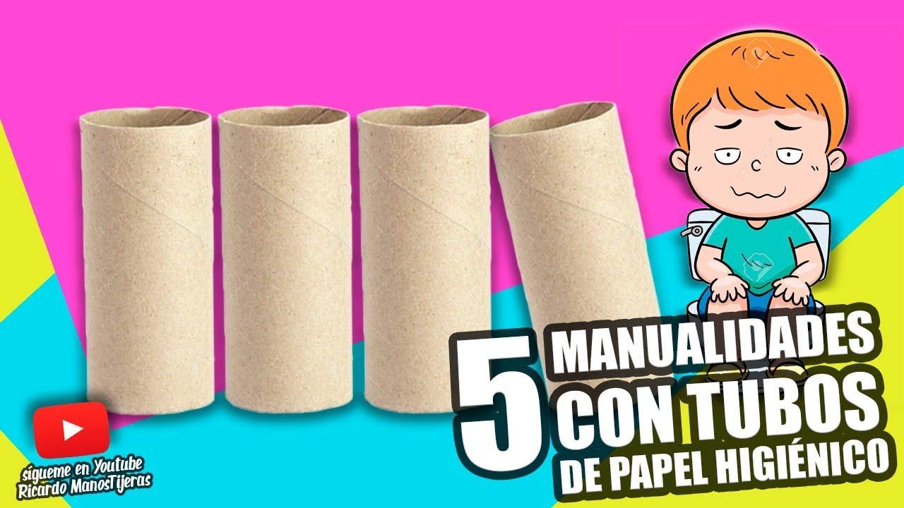5 manualidades con tubos de papel higi nico manualidades reciclaje diy youtube - Empresas de manualidades para trabajar en casa ...
