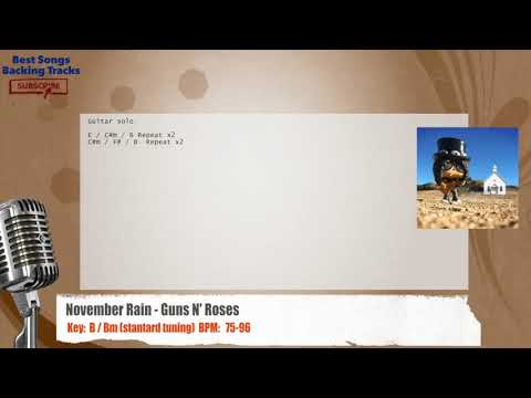 November Rain - Guns N' Roses Vocal Backing Track with chords and lyrics