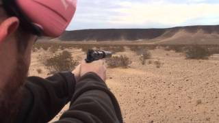 Crux Suppressors sound test. The Axe 9mm can shooting sub sonics. Super quiet. Shot Show 2016