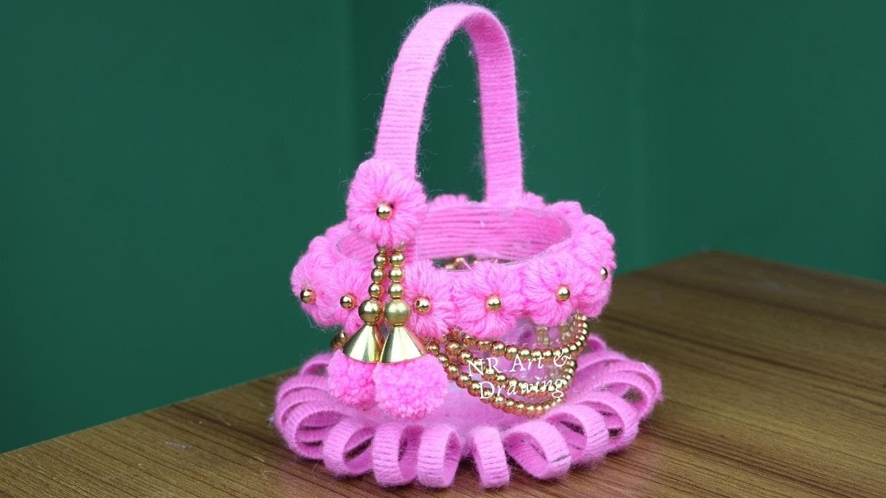 Waste Plastic Bottle Reuse Ideas - Woolen art and craft - Woolen Craft Idea - DIY Best out of waste