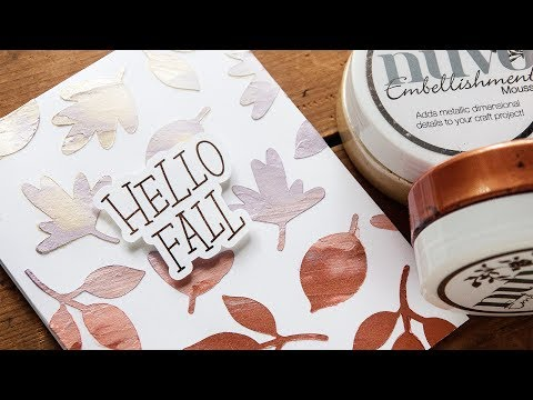 Autumn Card Making Tutorial : Nuvo Mousse Gradient Background Technique - LIVE REPLAY