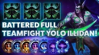 Illidan Metamorphosis - BATTERED FULL TEAMFIGHT YOLO ILLIDAN! - B2GM Season 7(Diamond 4)