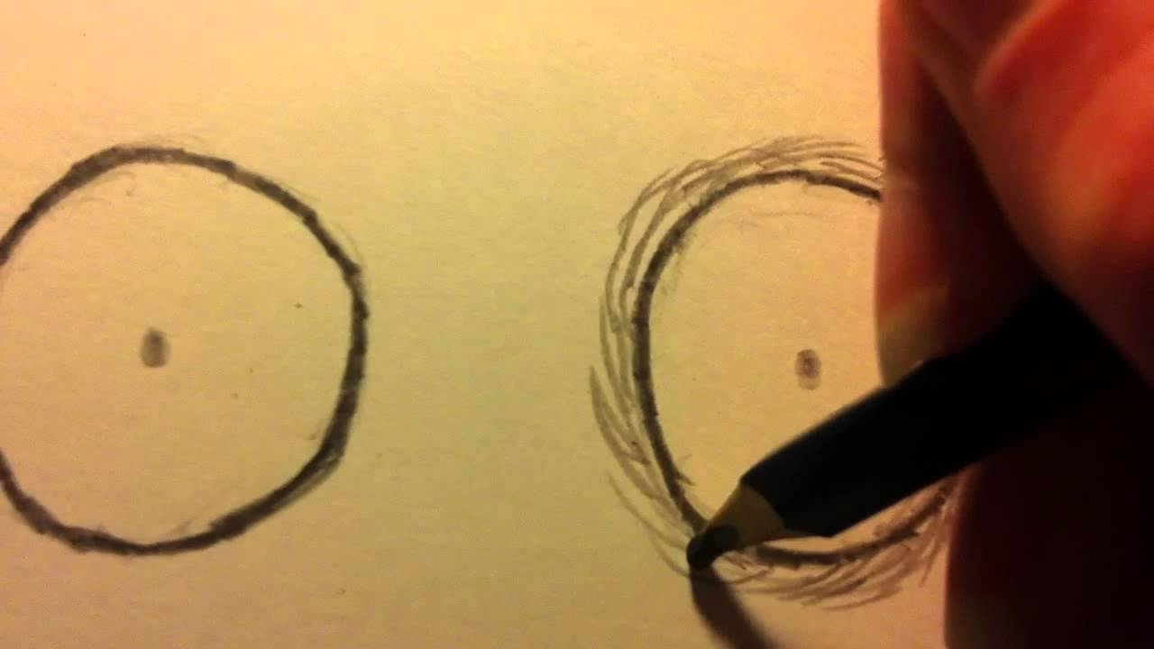 How To Shade Eyes In The Style Of Tim Burton Self Portrait  How To Draw  Like Tim Burton  Youtube
