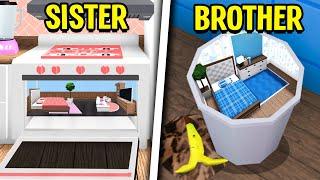SISTER vs BROTHER TINY HOME Build Off! (Roblox Bloxburg)