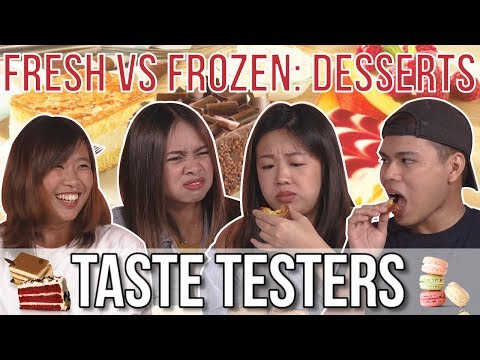 FRESH VS. FROZEN DESSERTS | Taste Testers | EP 91