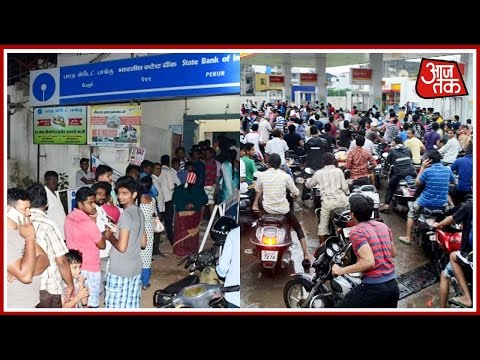 Mad Rush At ATMs And Petrol Stations After Ban Of Rs 500 And Rs 1000 Notes