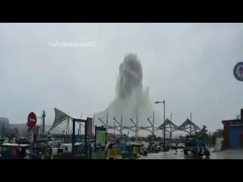 Super Typhoon Meranti: 2016's most powerful cyclone - Catastrophic typhoon grazes Taiwan