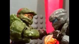 Mega bloks Halo 5 Guardians Master chief vs Spartan Locke in stop motion
