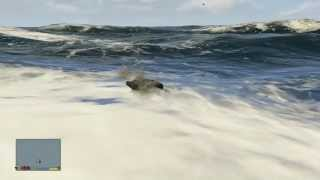 GTA V: How To Get ATTACKED BY A GREAT WHITE SHARK! Flying To The Edge Of The Map