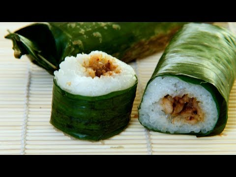 LEMPER Glutinous Rice Wrapped In Banana Leaves From Indonesia