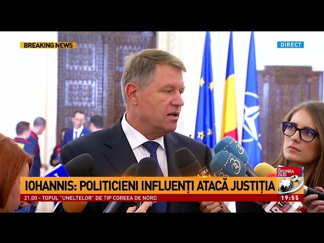 Klaus Iohannis: Ministrul Toader confund? func?ia pe care o de?ine cu cea de profesor universitar