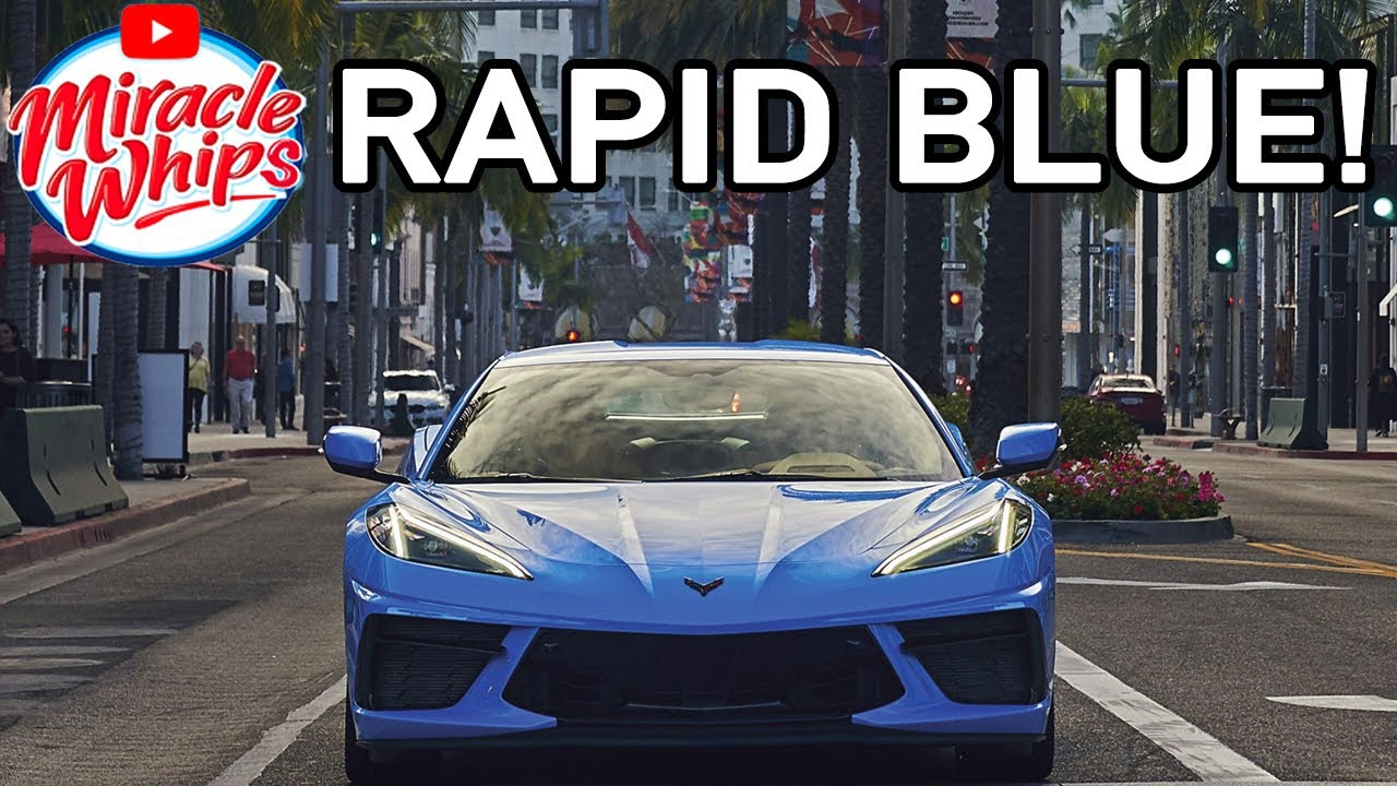 2020 Mid Engine Corvette C8: Rapid Blue | Spotted Test ...