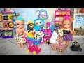 Anna and Elsa Supermarket Shopping! Coles Little Shop Collectables! Shopkins Small Mart - Barbie Toy
