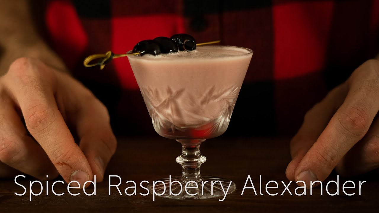 Spiced Raspberry Alexander | 12 Days of Cocktails - Day 01