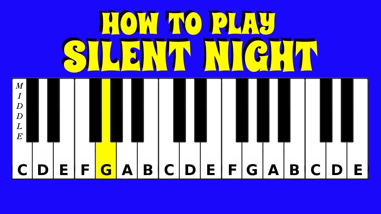 How To Play Silent Night | Piano / Keyboard Tutorial | Letter Notes | Easy  Tutorial