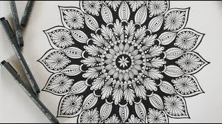 How to draw a mandala step by setp || MANDALA ART for beginners || HOW TO: Make the SIMPLE MANDALA