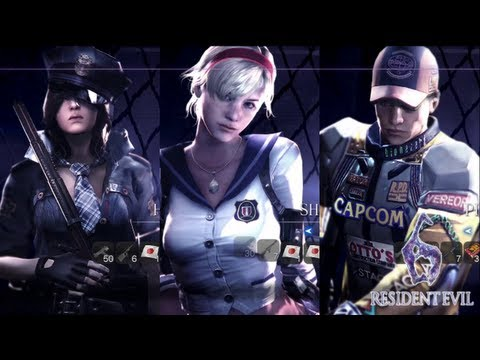 Resident Evil 6 Mercenaries All Characters Costumes Youtube