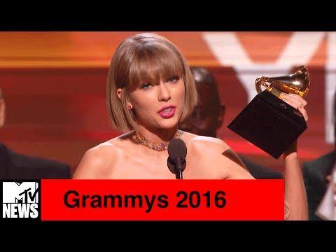 Grammys 2016 | Taylor Swift Disses Kanye West & More Memorable Moments | MTV News