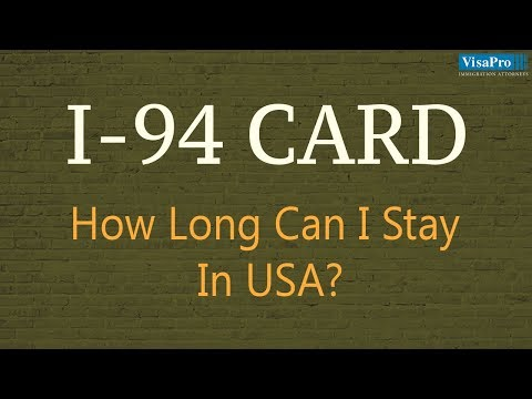I-94 Or Visa: How Long Can I Stay In The U.S.?
