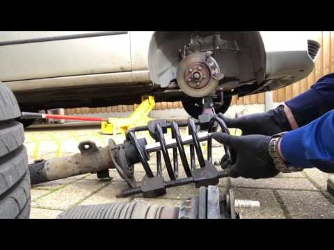 Ford Mondeo mk3 front coil spring replacement ,broken cracked diy repair fix
