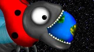БОЖЬЯ КОРОВКА и Кид #25 Гигантский жучок в Tasty Planet Forever съел планету Земля на крутилкины