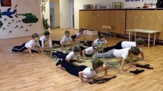 Военный танец в детском саду