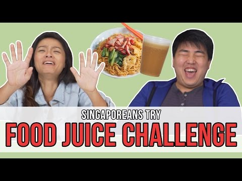 Singaporeans Try: Food Juice Challenge