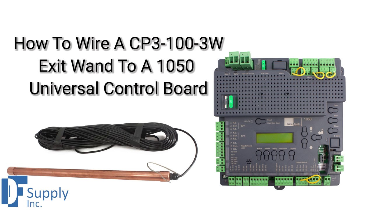 How To Connect Cp3 100 3w Exit Wand To Nice Apollo 1050