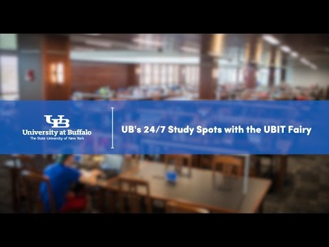 UB's 24/7 Study Spots with the UBIT Fairy