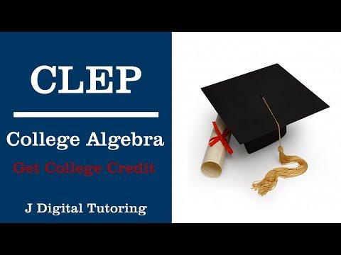 College Algebra CLEP - YouTube