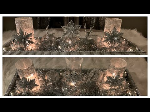 Diy Dollar Tree Winter Wonderland Candle Holder | Centerpiece Decor