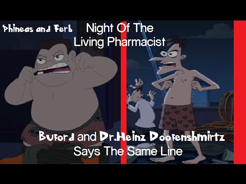 Phineas and Ferb Night Of The Pharmacist - Buford and Doofenshmirtz Says The Same Line[CLIP]
